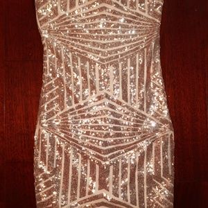 Strapless Mini Sequin Dress